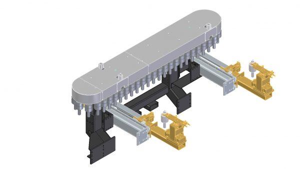 Werkzeugwechselsystem mit einem Kettenmagazin und zwei Wechseleinheiten
