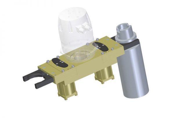 Winkelzangengreifer mechanisch gespannt, hydraulisch gelöst